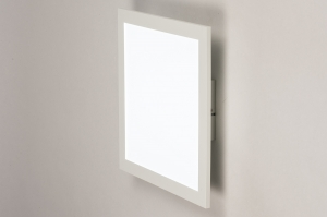 plafondlamp 74233 modern kunststof metaal wit mat vierkant