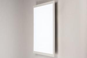 plafondlamp 74234 modern kunststof metaal wit mat vierkant