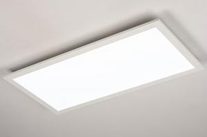 plafondlamp 74235 modern kunststof metaal wit mat rechthoekig