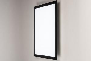 plafondlamp 74237 modern kunststof metaal zwart mat wit mat vierkant