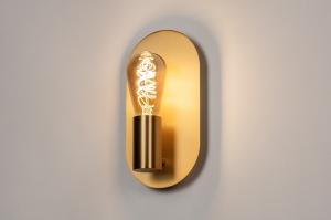 wandlamp 74254 modern klassiek eigentijds klassiek art deco metaal goud messing ovaal