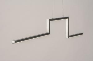hanglamp 74275 design modern geschuurd aluminium aluminium langwerpig