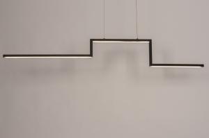 hanglamp 74276 design modern aluminium zwart mat langwerpig