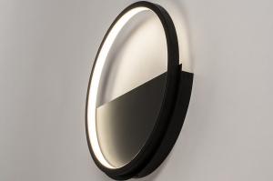 plafondlamp 74277 design modern kunststof metaal zwart mat rond