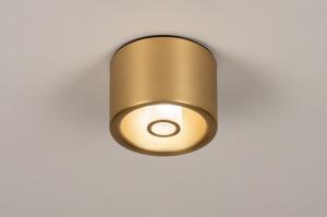 plafondlamp 74282 modern klassiek eigentijds klassiek art deco messing geschuurd aluminium metaal goud messing rond