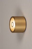 plafondlamp 74282 design modern klassiek eigentijds klassiek art deco aluminium metaal goud mat messing rond