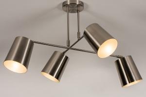 plafondlamp 74302 modern metaal nikkel