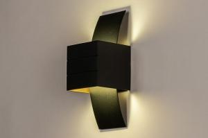 wandlamp 74306 industrie look design modern eigentijds klassiek art deco aluminium zwart mat goud vierkant rechthoekig