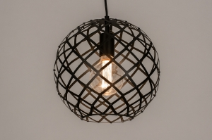 Pendelleuchte 74309 Industrielook laendlich rustikal modern zeitgemaess klassisch Metall schwarz matt