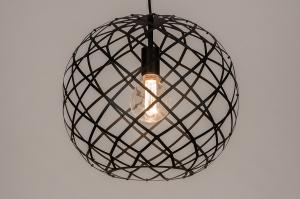 Pendelleuchte 74310 Industrielook laendlich rustikal modern zeitgemaess klassisch Metall schwarz matt