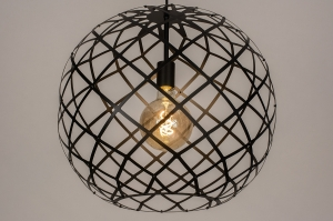 hanglamp 74311 industrie look landelijk rustiek modern eigentijds klassiek metaal zwart mat