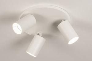 spot 74321 design modern aluminium metaal wit mat rond
