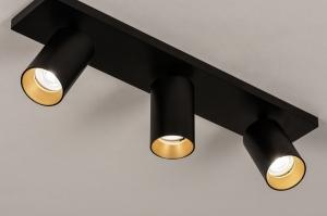 spot 74324 design modern eigentijds klassiek aluminium metaal zwart mat goud langwerpig
