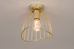 plafondlamp 74327 modern retro metaal goud rond