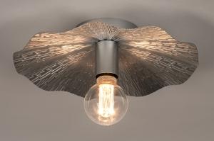 plafondlamp 74331 landelijk rustiek eigentijds klassiek metaal zilver  oud zilver