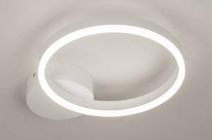 plafondlamp 74337 design modern kunststof metaal wit mat rond