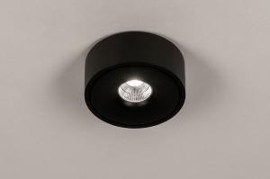 spot 74345 design modern metaal zwart mat rond