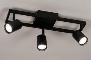 spot 74354 industrie look modern aluminium metaal zwart mat rond langwerpig rechthoekig