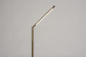 vloerlamp 74362 modern eigentijds klassiek messing geschuurd metaal goud messing rond