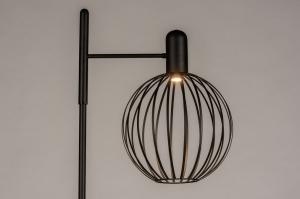 vloerlamp 74372 landelijk rustiek modern eigentijds klassiek marmer metaal zwart mat glans