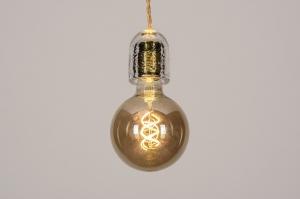 hanglamp 74377 landelijk rustiek modern eigentijds klassiek glas metaal goud