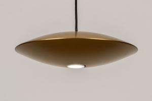 hanglamp 74379 design landelijk rustiek modern eigentijds klassiek art deco metaal goud mat messing rond