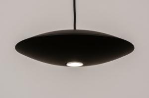 hanglamp 74380 design modern metaal zwart mat rond