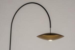 vloerlamp 74381 landelijk rustiek modern klassiek eigentijds klassiek art deco messing geschuurd marmer metaal zwart mat glans messing