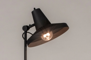 vloerlamp 74385 industrie look design modern metaal zwart mat rond