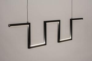 hanglamp 74389 design modern metaal zwart mat langwerpig