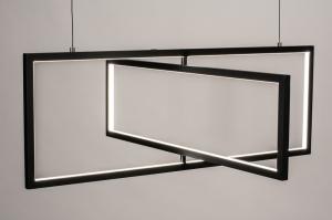 hanglamp 74390 design modern metaal zwart mat langwerpig rechthoekig