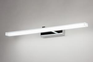wandlamp 74408 modern metaal chroom rechthoekig
