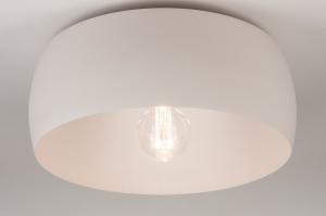 plafondlamp 74416 landelijk rustiek modern klassiek eigentijds klassiek metaal grijs roze rond