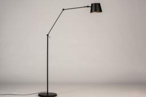 vloerlamp 74424 industrie look modern metaal zwart mat