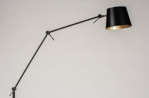 vloerlamp 74425 industrie look modern metaal zwart mat goud