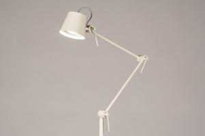 vloerlamp 74428 modern metaal grijs creme zand