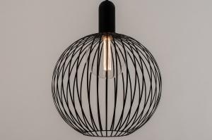 hanglamp 74431 landelijk rustiek modern eigentijds klassiek metaal zwart mat rond