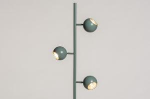 vloerlamp 74446 modern retro metaal groen goud rond