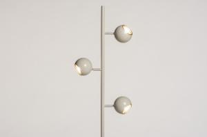 vloerlamp 74447 landelijk rustiek modern retro eigentijds klassiek metaal wit glans goud creme rond
