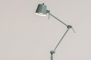 vloerlamp 74448 landelijk rustiek modern retro metaal groen rond
