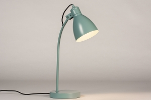tafellamp 74465 landelijk rustiek modern retro metaal groen rond