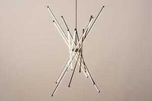 hanglamp 74507 modern aluminium kunststof metaal zwart mat wit