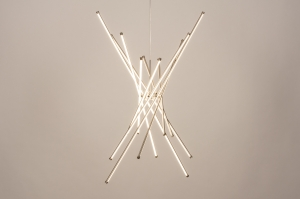 hanglamp 74508 modern staal rvs aluminium kunststof metaal wit staalgrijs