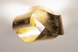 Deckenleuchte 74541 modern Klassisch zeitgemaess klassisch Metall Gold rund