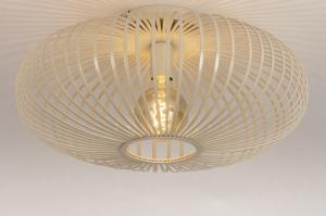 plafondlamp 74561 landelijk rustiek modern eigentijds klassiek metaal beige zand rond