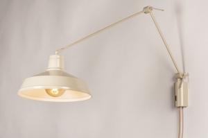 wandlamp 74565 landelijk rustiek modern retro eigentijds klassiek metaal beige zand rond