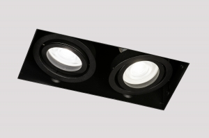Einbauspot 74579 Industrielook Design modern Aluminium schwarz matt rechteckig