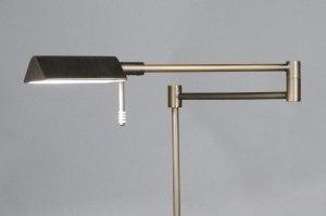 vloerlamp 83431 modern klassiek eigentijds klassiek brons metaal brons rond rechthoekig