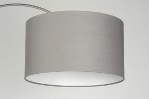 pendant light 85012 fabric grey taupe colored