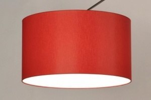 pendant light 85886 fabric red